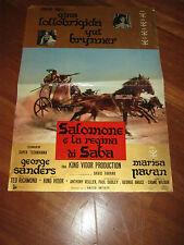 fotobusta Salomone e la regina di Saba Solomon Sheba,Brynner,Lollobrigida,Vidor