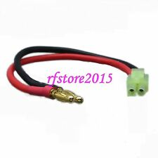 4mm Bullet Banana to Mini Tamiya Male Adapter Charger Charging Leads for AIRSOFT