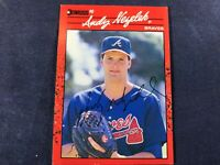 Y3-45 BASEBALL CARD - ANDY NEZELEK - AUTOGRAPHED - 1990 DONRUSS - CARD #523