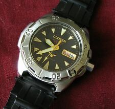 Citizen Club Marine Automatic Men's Wristwatch 8200 21 jewels Stainless RUNS