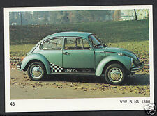 Americana Munich 1970 Card - Motor Cars - No 43 - VW Bug 1300