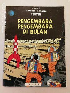 1978 Explorers on the Moon  Malay Tintin comics Asian Edition Malaysia Delta