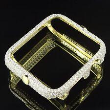 Apple Watch Bezel Case 14K Gold Over Sterling Silver Lab Diamonds 38mm Series 2