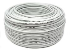 100' Feet 12 Gauge White Stranded 2 Conductor Speaker Power Wire Car Home Audio
