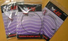 """3 - LEE CAROLINA KINGFISH LEADER RIG #6 TREBLE & 1/0 SINGLE HOOKS 30"""" BROWN WIRE"""