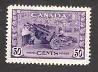 #261. - Canada - 1942 -  50 Cent - MH  - F/VF - superfleas