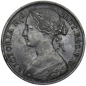 1861 PENNY (F33) - VICTORIA BRITISH BRONZE COIN - NICE