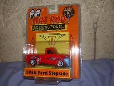 """1956 Ford Stepside"" Die-cast Car/Red with Blue Flames/by Hot Rod/ 1:43rd Scale"