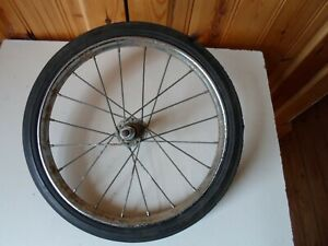 """Collectors Restorer Raleigh Chrome Steel Rear Wheel 11"""" x 1 1/8"""" With Solid Tyre"""