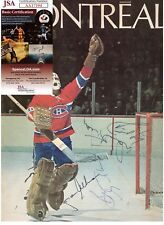 BRUCE GAMBLE & DAVE KEON SIGNED MONTREAL CANADIENS PROGRAM JSA AUTOGRAPH COA
