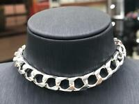 "Solid 925 Sterling Silver Bombe Chain Bracelet Flat Italy Style Heavy 7"" 8"" 8MM"