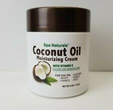 Coconut Oil Moisturizing Cream Vitamin E, Dry Sensitive Skin, Spa Naturals, 6 oz