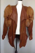 COPPOLINO suede jacket coat Leather Fur Unique Design Italy