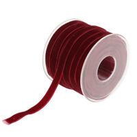 20 Yards Decorative Velvet Ribbon Headband Clips Bow Decor Crafts Wine Red