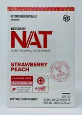 Pruvit Keto OS NAT Ketones - Caffeine Free STRAWBERRY PEACH - 20 Packets NEW