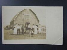 Pleasant Hill Barn Horse Buggy Real Photo Postcard RPPC c1910