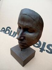 VERY UNUSUAL FACE MASK TYPE SCULPTURE, MOUNTED,DEATH MASK ???