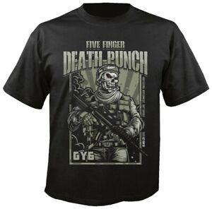 ** Five Finger Death Punch War Soldier T-Shirt OFFICIAL **