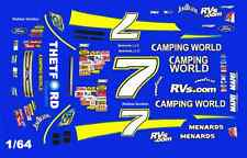 #7 Robbie Gordon Camping World 2007 1/64th Ho Scale Slot Car Decals