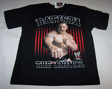 WWE Wrestling Batista Boys Black Printed T Shirt Size 5 New