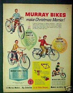 1960 Murray Comet VI, Sonic~Park Cycles~Bicycle Bike Kids Toy Memorabilia Art AD