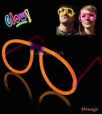 ORANGE GLOW EYEGLASSES GLOW EYE GLASSES GLOW STICKS UV PARTY FESTIVALS CAMPING