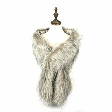 Wedding Cape Faux Fur Shaggy Shrug Scarf Women Lady Winter Warm Shawl Stole Wrap