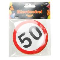 50. Geburtstag Bierdeckel 10 Stück,9,5 cm Durchmesser,Birthday,Neu