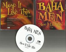 BAHA MEN Move it like this w/ RARE SINGLE MIX PROMO Radio DJ CD Single 2001 MINT