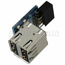 More details for usb 2.0 9-pin header (2x5) to double layer type usb a female port adapter