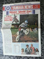 Y154-YAMAHA BROCHURE MAG YAMAHA NEWS 1978 NO 5 HEIKKI MIKKOLA,ROND, MX,ROBERTS K
