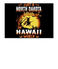 Just A North Dakota Witch In Hawaii World Sticker - Landscape