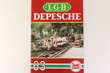 LGB Buch - Prospekt - Katalog LGB DEPESCHE Ausgabe 1989 Heft Nr. 63 Spur G