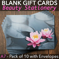 Gift Voucher for Massage Beauty Nail Salons Therapists x10 + Envelopes WL