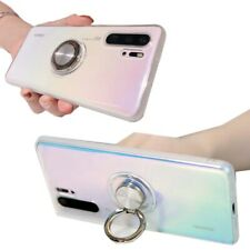 Crystal Clear Soft Case Cover for Huawei P30 + P20 With Magnetic Ring Shockproof