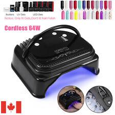 Cordless Rechargeable LED Nail Lamp Dryer Machine w/Smart Sensor Manicure Tool