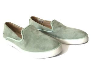 Lacoste Cherre Suede Mint Green Flat Slip On Women's Sneaker Size 6