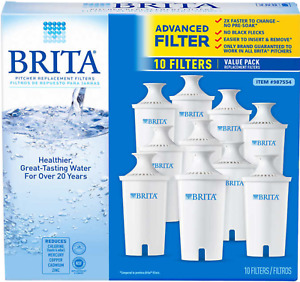 New Brita Pitcher Replacement Water Filters 10 Value Pack Free Fast Shipping