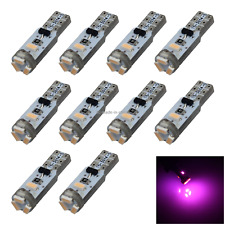 10x Pink Car T5 Speedo Bulb Internal Light  No-polar 5 3014 SMD LED Z2939