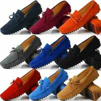 Suede Leather Men Slip on Loafers Shoes Moccasin Casual Boat Shoes Driving Shoes