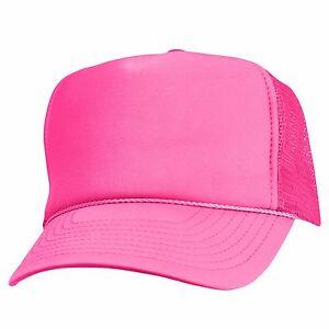 Trucker Hat Baseball Cap Mesh Caps Blank Plain Hats (39 Color Choices)