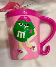 "M&M's Pink ""Green"" Susan Komen Mug 2006 By Galerie NEW Sealed Mint Ceramic"