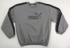 Vintage Puma Crew Neck Large  gray 90s Swaziland Pullover Sweater -