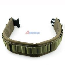 Tactical Shotgun Hunting 25 Shell Bandolier cartridge Ammo Belt Sling Green
