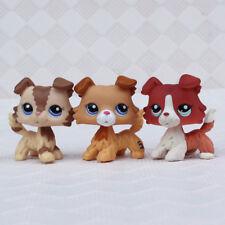 3pcs LPS toys #2210 #1542 #2452 Littlest Pet Shop Rare Figure Collie Dog Puppy