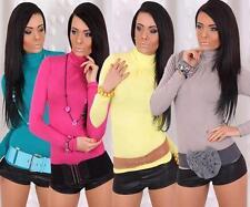 Waist Length Viscose Polo Neck Tops & Shirts for Women