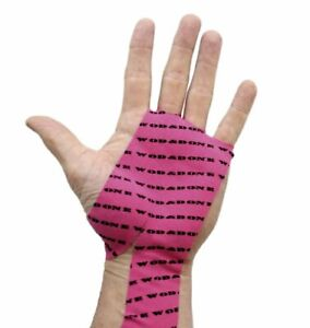 WOD&DONE Pack of 10 Hand Protection Athletic Grips For CrossFit Gymnastics Pink