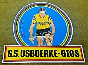 """Gios Jos Jacobs sticker, 6 x 5.5""""  Highest quality print, not a reproduction."""