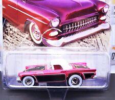 Hot Wheels Cruisin' America Cruisers '57 T-Bird Pink White Wall Real Riders Momc