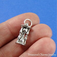 Silver SAND TIMER CHARM 3D Hourglass Egg Timer PENDANT *NEW*